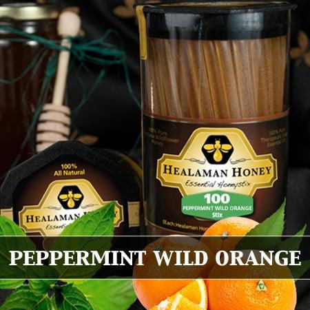 peppermint orange honey stix