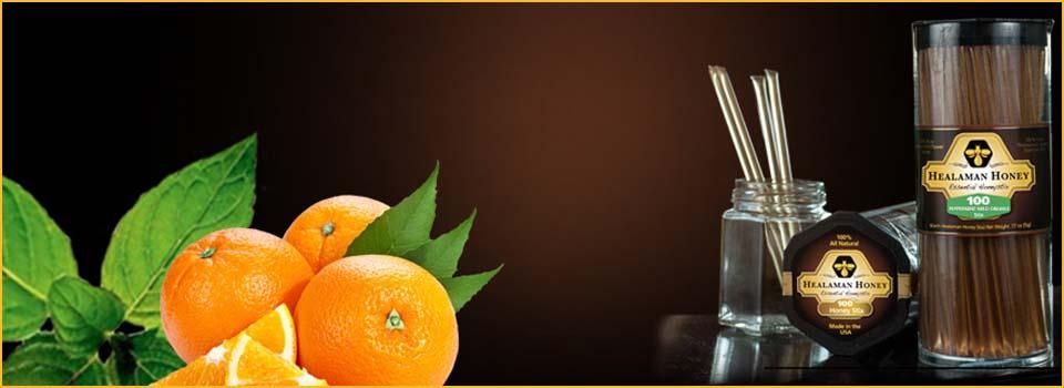 Peppermint Wild Orange Honey Stix